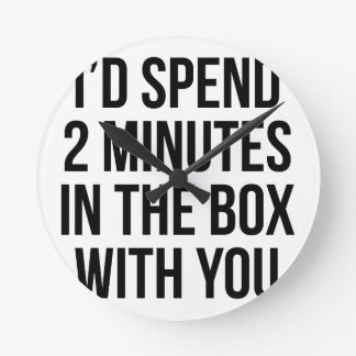 In the Box Round Clock