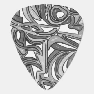 In The Bush - Abstract Art Black And White Guitar Pick
