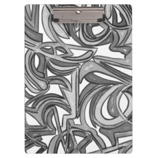 In The Bush - Abstract Art Hand Painted Clipboard