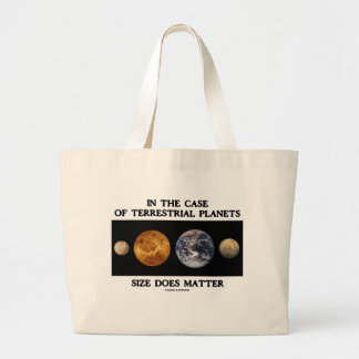 In The Case Terrestrial Planets Size Does Matter Tote Bag