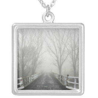 In the cold season, the Murray valley is often Silver Plated Necklace