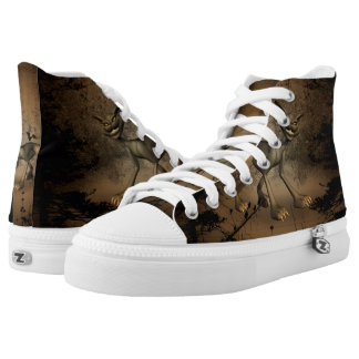 In the dark forest printed shoes