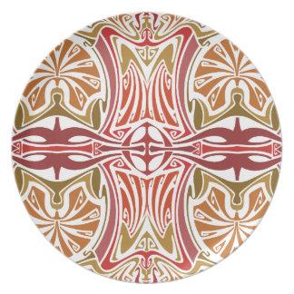 In the desert Art Nouveau Plate