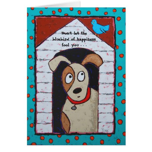 In the doghouse card