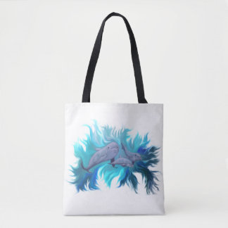In the Dolphin School Tote Bag
