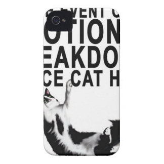 In the event of an EMOTIONAL BREAKDOWN Place CAT iPhone 4 Case-Mate Cases