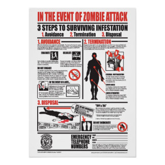 IN THE EVENT OF ZOMBIE ATTACK (DELUXE VERSION) POSTER