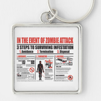 In The Event of Zombie Attack KEYCHAIN