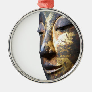 In the face of buddha christmas ornament