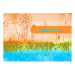 In the field, colourful businesscards template business card