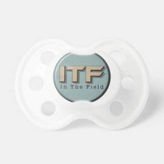 In The Field logo Baby Pacifiers