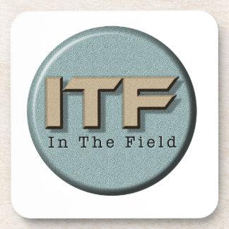 In The Field logo Coaster