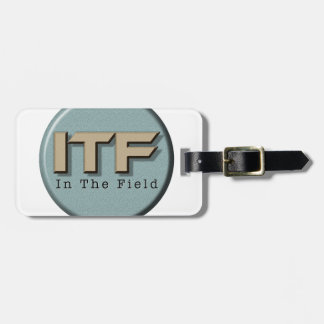 In The Field logo Luggage Tag