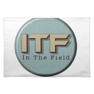 In The Field logo Placemat