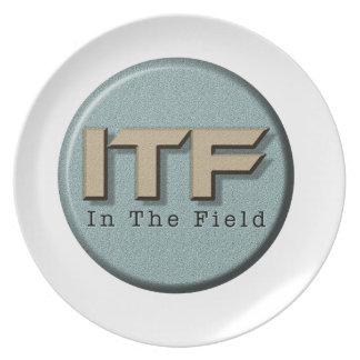 In The Field logo Plate