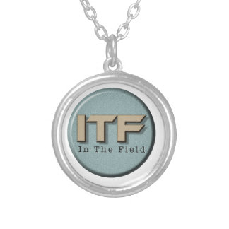 In The Field logo Silver Plated Necklace