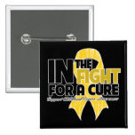 In The Fight For a Cure - Childhood Cancer 15 Cm Square Badge