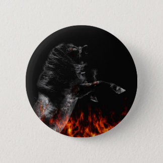 In the fire 6 cm round badge