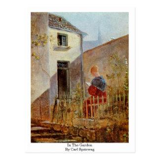 In The Garden By Carl Spitzweg Postcard