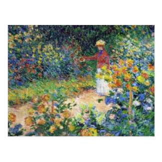 In the Garden by Claude Monet Postcard