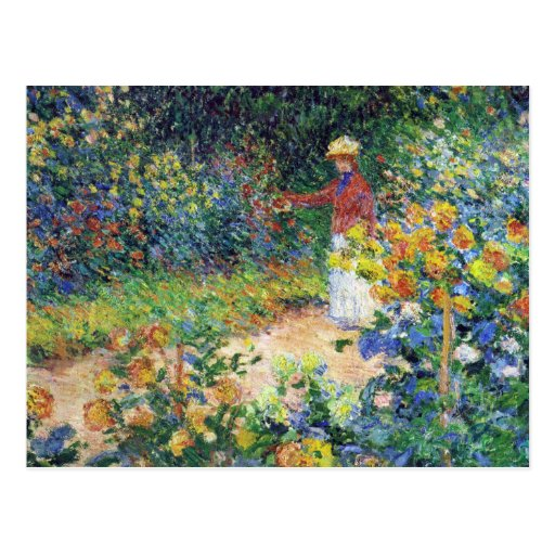 In the Garden by Claude Monet Post Card