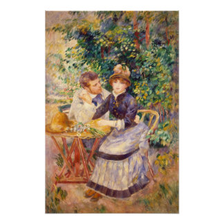 In The Garden, by Pierre-Auguste Renoir Poster