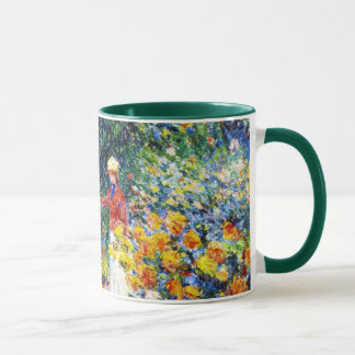 In the Garden Claude Monet woman painting Mug