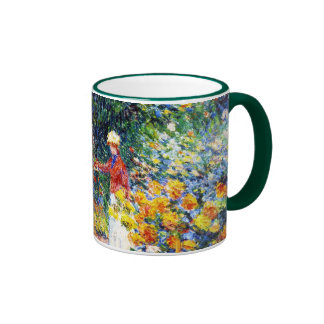 In the Garden Claude Monet woman painting Mug