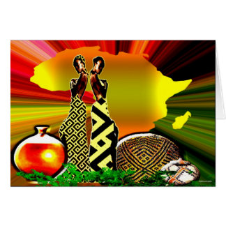 In The Garden Of Africa Card