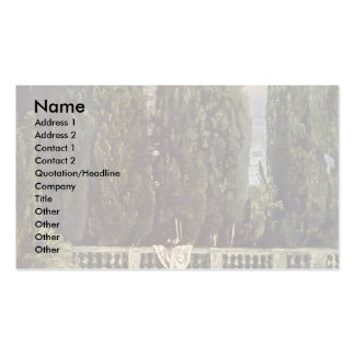 In The Garden Of The Villa Medici In Rome Business Card Templates