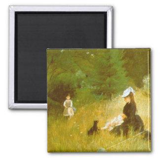 In the Grass by Berthe Morisot Fridge Magnets
