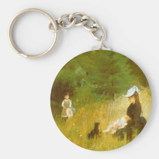In the Grass by Berthe Morisot Key Chains