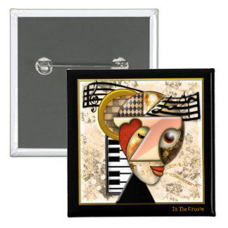 In The Groove (Pin) 15 Cm Square Badge