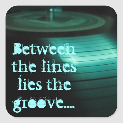 In The Groove Square Sticker