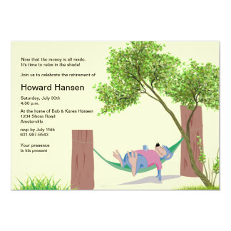 In the Hammock Retirement Party Invitation