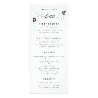 In the Herb Garden Wedding Menu Card