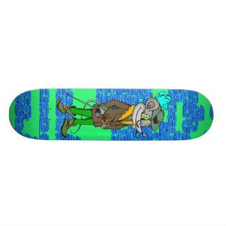 In The Hood Mouse Custom Skateboard