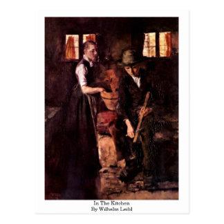 In The Kitchen By Wilhelm Leibl Postcard