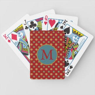 In the Kitchen Stars on Red Monogram Bicycle Playing Cards