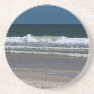 In the Land of the Long White Wave Drink Coaster