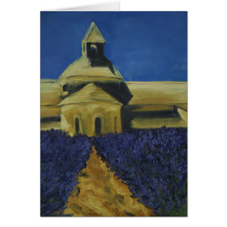 In the Lavender at Sénanque Abbey Card
