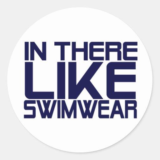 In The Like Swimwear Round Stickers