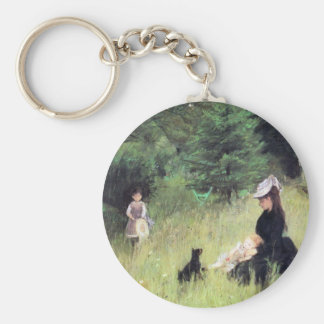 In the Meadow by Berthe Morisot Key Chain