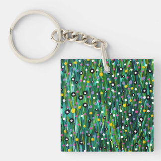 In The Meadow Key Ring