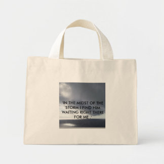 'IN THE MIDST OF THE STORM' TOTE BAG