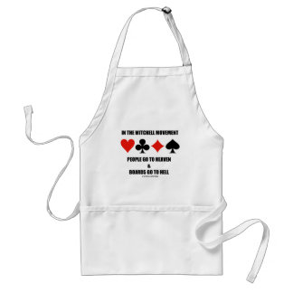 In The Mitchell Movement People Go To Heaven Hell Standard Apron