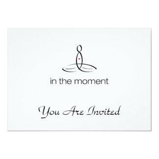In The Moment - Black Regular style 13 Cm X 18 Cm Invitation Card