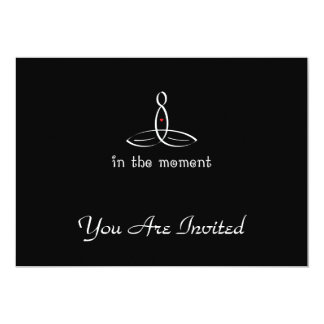 In The Moment - White Fancy style 13 Cm X 18 Cm Invitation Card