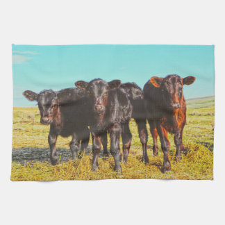 In the Mood for Hay Kitchen Towel Western Cattle