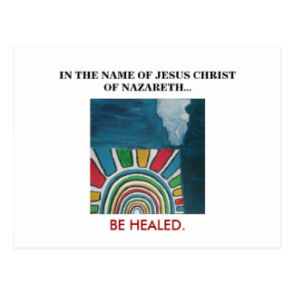 IN THE NAME OF JESUS CHRIST POSTCARD